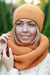 Комплект шапка и хомут шарф снуд