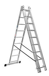 Лестница алюминий 3х12 профиль 8 см HOHER 820 см