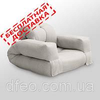 """Кресло кровать """"Hippo"""" саванна, раскладное кресло,кресло диван, кресло для дома, бескаркасное кресло."""