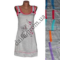 Женская котоновая ночная рубашка V79v (р-ры 42-50) оптом со склада в Одессе.