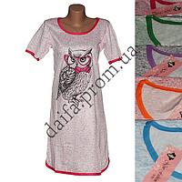 Женская котоновая ночная рубашка V81v (р-ры 44-52) оптом со склада в Одессе.