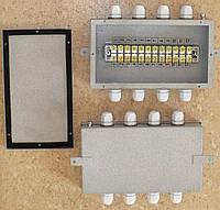 Коробка соединительная КС-12-25, IP54, 12 контактов, 25А, стальная, 215x125x45мм