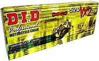 Приводная цепь DID 520VX2 - 118ZB Gold ( 520 x 118 ) D.I.D. X-RING