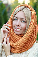 Снуд  шарф хомут женский теплый шерстяной