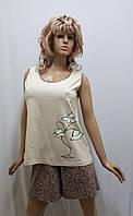 Костюм женский с шортами большого размера 286