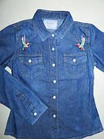Джинсовая рубашка для девочек Seagull 140-146-152,164 рр