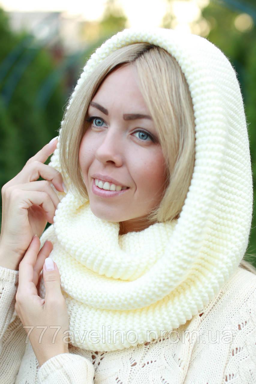 Снуд  шарф хомут шерстяной плотный