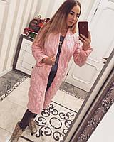 Модный женский кардиган розовый LALO вязанный ЕЕ/-07