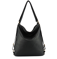 Сумка рюкзак трансформер женская черная код 3-299