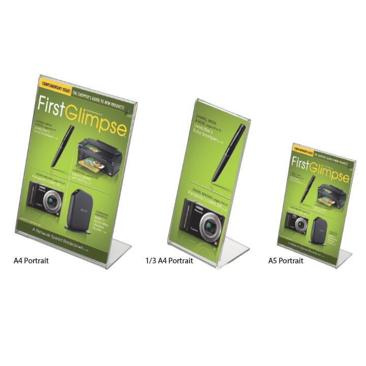 Акриловые подставки под буклеты Leaflet Dispensers