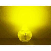 Светодиод Шарик жёлтый не мигающий вес 2 грамма - 1.3 см×1.7см разборной многоразовый