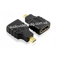 Переходник гнездо HDMI на штекер microHDMI