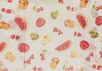 Тюль под  лен с рисунком  фрукты,  высота 2.8 м