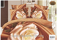 Комплект постельного белья  ELWAY сатин 3D 281