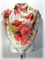 Натуральный платок Марлен, капучино с красным