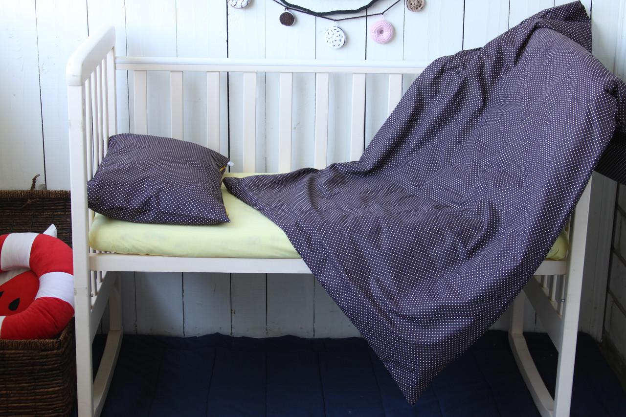 """Постіль у дитяче ліжечко """"Шоколад з лимоном"""""""