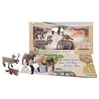 Детский игровой набор с QR-картой фигурки Животных Азии Wenno WAS1701