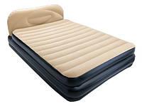 Надувная кровать со спинкой и встроенным насосом BESTWAY 226х152х74 см (67483)