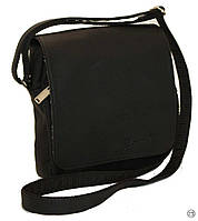 Мужская сумка черная через плечо 00362