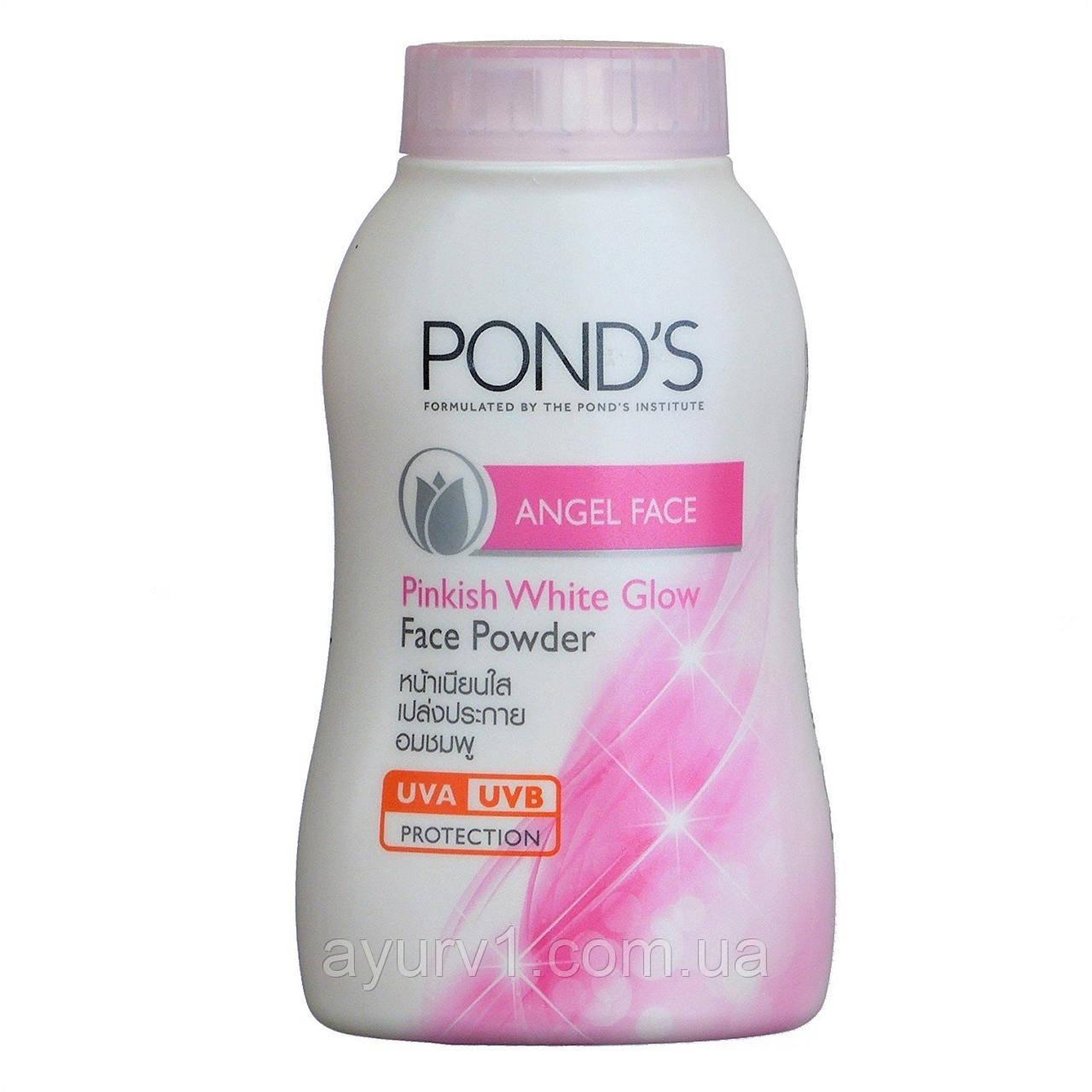 Ponds Angel Face Pinkish White Glow  матирующая пудра-тальк для лица и тела с SPF защитой