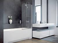 Шторка для ванны Besco PMD Ambition - 1 с полосками 75x130