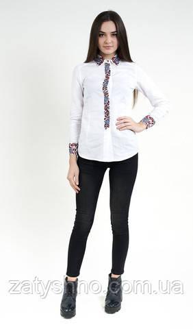 Женская вышиванка стильная белая