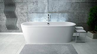 Отдельно стоящая ванна с сифоном Besco PMD Piramida Victoria 185x83 белая