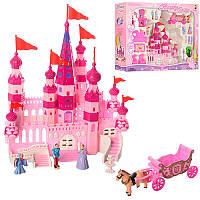 Замок 8012-1принцессы, 25-32-9 см, мебель, фигурки, лошадка с каретой