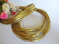 Шнур люрексовый, d 1 мм, цвет золотистый, 100 м
