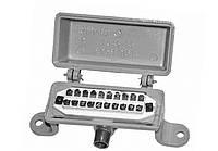 КРТУ-10х2 - Коробка распределительная телефонная с винтовым плинтом, силуминовая, без замка, типа  КРТ-10