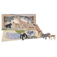 Детский игровой набор с QR-картой фигурки Животных Африки S2 Wenno WAF1702, фото 1