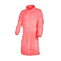 Одноразовый халат на кнопках (30 г/м2) Красный