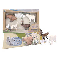 Детский игровой набор с QR-картой фигурки Животных Арктики Wenno WAC1701