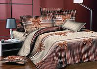 Двуспальный комплект постельного белья евро 200*220 хлопок  (7968) TM KRISPOL Украина