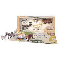 Детский игровой набор с QR-картой фигурки Животных Европы Wenno WEU1704