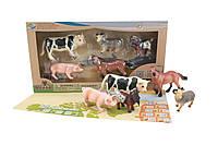 Детский обучающий игровой набор с QR-картой фигурки домашних животных Ферма S1 Wenno WEU1705