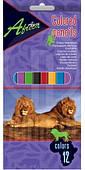 Карандаши цветные Africa 12 цветов Economix (E11610)