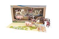Детский обучающий игровой набор с QR-картой фигурки домашних животных Ферма S2 Wenno WEU1706