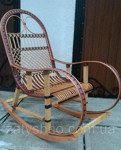Плетеная кресло-качалка