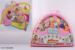 Коврик для малышей с погремушками на дуге (898-25B)