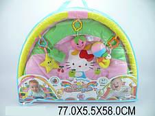 Коврик для малышей с погремушками на дуге в сумке (289-8A)