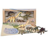 Детский игровой набор с QR-картой фигурки Травоядных Динозавров Wenno WHD1701