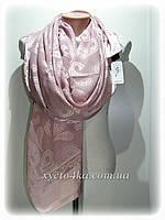 Нарядный шарф на шёлковой основе пудра, молочный, айвори