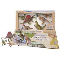 Детский игровой набор с QR-картой фигурки Динозавров Хищников Wenno WCD1701