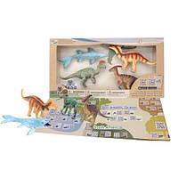 Детский игровой набор с QR-картой фигурки Динозавров Мелового Периода Wenno WRD1701