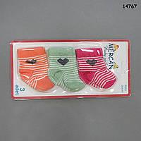 Набор носков для новорожденного, 3 штуки.