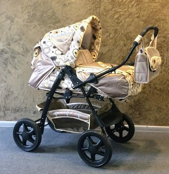 Универсальная коляска-трансформер Trans baby Яся (921/CuI), беж+абстр.