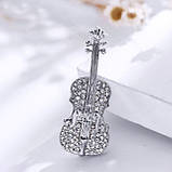Красивая женская брошка Скрипка, фото 3
