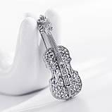 Красивая женская брошка Скрипка, фото 4