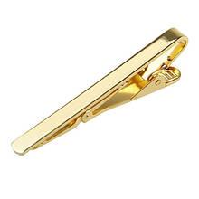 Зажим для галстука мужской золотистого цвета